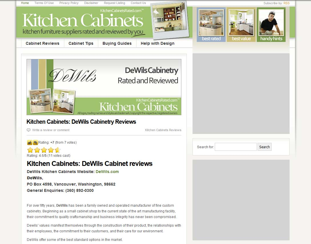 the original kitchen cabinets rated website